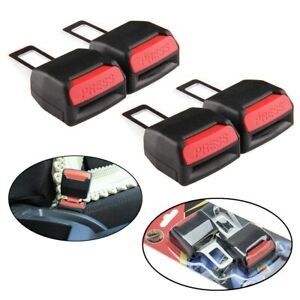4x Universal Car Safety Seat Belt Extension Buckle Extender Clip Alarm Stopper