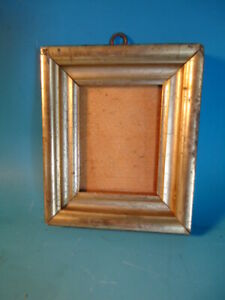 Antique Primitive Lemon Gold Or Water Gilded Watercolor Or Silhouette Frame