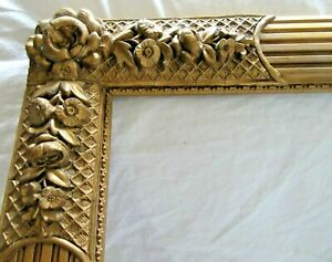 Antique Fits 14x 24 Victorian Gold Picture Frame Wood Ornate Fine Art Country