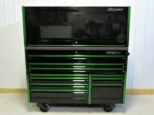 Snap On Black Green Trim 68 Epiq Tool Box Armor Edge Top Hutch Led Light