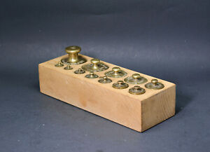 Antique Brass Scale Weights Almost A Complese Set