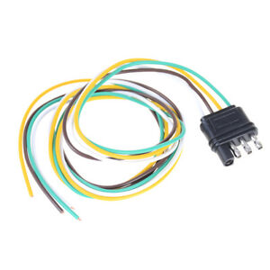 Trailer Light Wiring Harness Extension 4 Pin Plug 18 Awg Flat Wire Connector Vvv