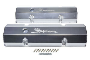 Holley Sniper Fabricated Valve Covers Sbc Tall 890010