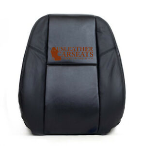 09 13 Chevy Avalanche Ltz Passenger Lean Back Perforated Leather Seat Coverblack