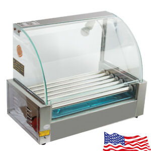 Usa New Commercial 18 Hot Dog Hotdog 7 Roller Grill 1050w Cooker Machine