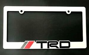 3d Trd License Plate Holder Frame Cover For Corolla Camry Tundra Tacoma 4 Runner