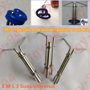 Hydraulic Cylinder Rod Seal Installation Tool 3 Pcs Kit Prevents Damage New