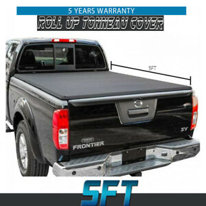 Tonneau Cover Soft Roll Up Fit 15 19 Nissan Frontier Crew Cab 5ft Vinyl Bed