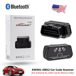 Vehicle Obdii Odb2 Advanced Bluetooth Car Auto Diagnostic Scanner Tool For Pc