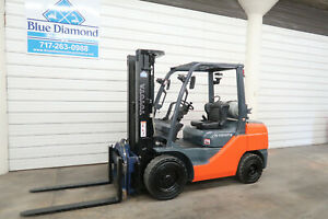 2015 Toyota 8fgu32 6 500 Pneumatic Tire Forklift Lp Gas 3 Stage Rotator