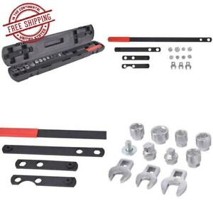 16pcs Steel Wrench Serpentine Belt Tension Tool Kit Automotive Repair Set Socket