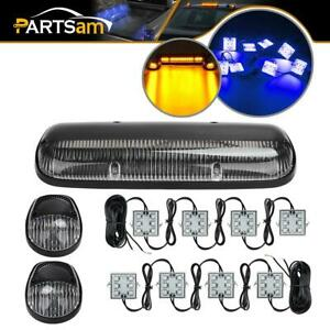 2x 8pods Blue Truck Bed Led Light 5x Top Clearance Roof Led Cab Marker Lights