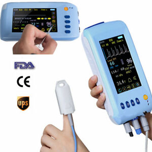 Touch Screen Medical 5 1in Vital Sign Patient Monitor Ecg Nibp Spo2 Pr Temp Usa