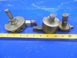 Lot Of 3 Shop Made Face Mills Fly Cutters Carboloy 370 Ar 10 Al 12 Mg Tooling