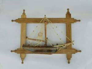Handmade Ship Model Made In The Form Of A Frame
