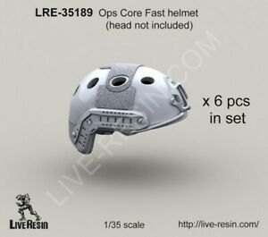 Live Resin 1:35 Ops Core FAST Helmet - Resin Detail Accessory #LRE35189