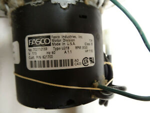 Fasco Inducer Motor 7021 10159 P n 621700 115v 60hz 3000rpm used