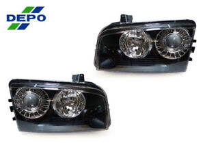 Depo Pair Facelift Srt8 Style Projector Headlights For 2006 2010 Dodge Charger