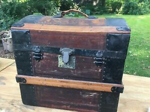 Antique Dome Top Half Trunk Untouched