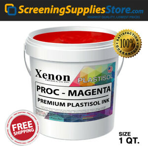 Xenon Process Magenta Plastisol Ink For Screen Printing 1 Quart 32oz