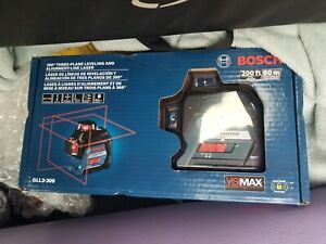 New In Box Bosch Gll3 300 200 Ft Self Leveling 3 Plane Cross Line Laser Level