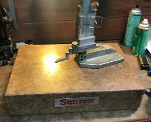 Starrett Crystal Pink Granite Surface Plate 12 x18 x4 W 18 Draper Height Gage