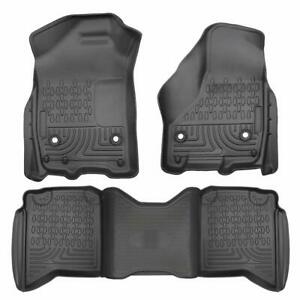 Liners Floor Mats Fit For 2012 2019 Dodge Ram 1500 Crew Cab All Weather 3 Pcs