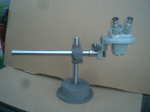 Bausch And Lomb 7 3x Stereo Microscope With Boom Stand 10x Lenses