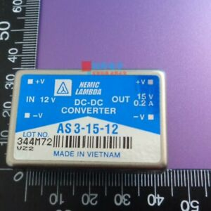 1pcs Applicable For As3 15 12 New 3w 15v To 12v 0 2a Dc dc Isolated Power Module