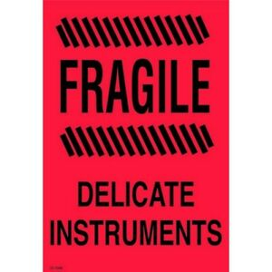 4 X 6 Fragile Delicate Instrument Labels 500 Per Roll