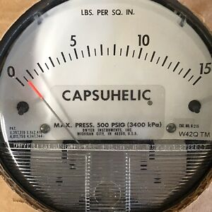 Dwyer Series 4000 500 Psig Capsuhelic Differential Pressure Gauge New Old Stock
