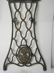 Antique Rusty Cast Iron Filigree Singer Treadle Sewing Machine Stand Steampunk