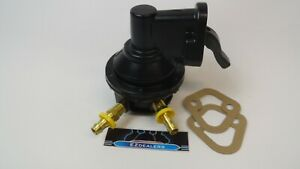 Sbc Chevy Replacement Black Mechanical Fuel Pump 305 350 400 With Fittings