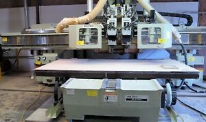 5 x10 Anderson Model Nc 3116tc 3 axis Cnc Router W 2 Heads
