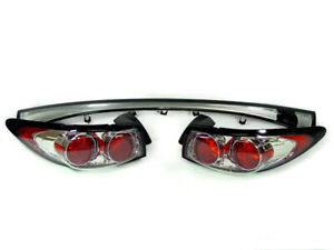 Altezza Chrome Euro Clear Depo 3 Pc Tail Light For 98 03 Ford Escort Zx2 Dot Sae