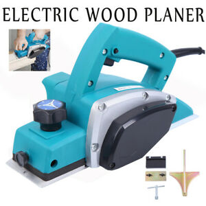 Powerful Electric Wood Planer Door Plane Hand Held Woodworking Surface 110v
