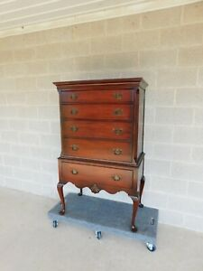 Kindel Mahogany Chippendale Queen Anne Style Highboy Chest