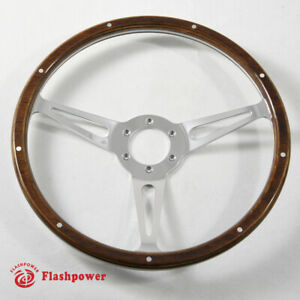 13 Classic Riveted Wooden Steering Wheel Restoration Mustang Shelby Ac Cobra