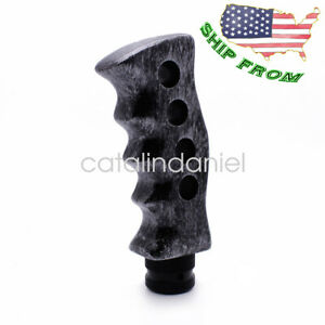 Silver Gatling Pistol Grip Manual Transmission Car Gear Shift Knob Shifter Lever