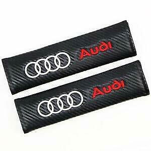 Pair Embroidery Cotton Seat Belt Cover Shoulder Pad Cushion Racing For Audi