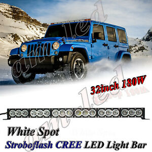 34inch 180w Cree 10w Led Work Light Bar Spot Off Road Suv Atv Lamp For Ford F150