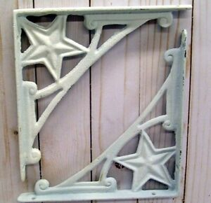 Vintage Style Shelf Brackets Lot Of 2 Home Decor Rustic White