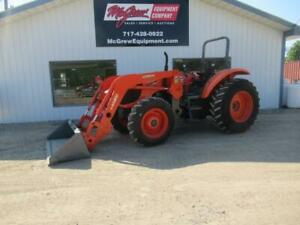 2014 Kubota M108s Tractor W loader 772 Hrs 108 Hp Diesel 4x4 2 Post Rops