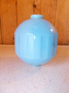 Antique The S Co Ribbed Blue Lightning Rod Ball
