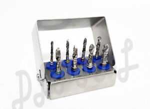 Dental Implant Conical Drills External Irrigation Surgical 8 Pcs