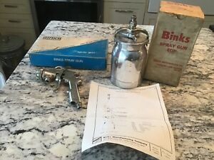 Nos Vintage Binks Model 370 Paint Spray Gun 81 500 Cup