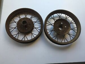 Pair Antique 1928 29 Ford Model A 22 1 4 Wire Wheel 5 Bolt Rim For 21 Tire