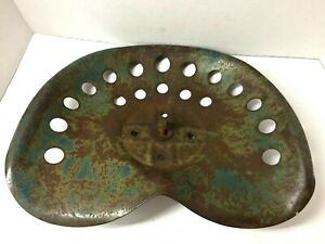 Green Vintage Tractor Seat Possibly Oliver Or John Deere Decor Rusty Patina