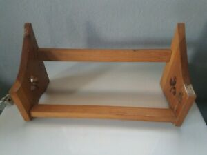 Vtg Wood Shoe Rack Stand Country Clover Decor Shelf Primitive Wh
