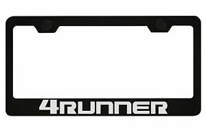 Stainless Steel Toyota 4runner Black License Plate Frame With Caps